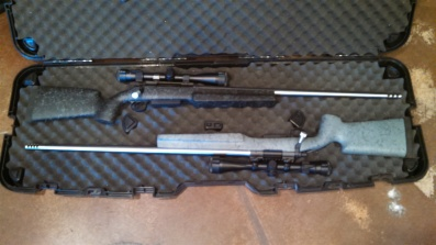 mike and troys rifles in the case